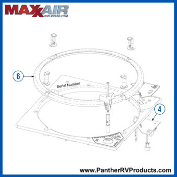 Maxxair 00-06200K RV Roof Vent Parts Breakdown
