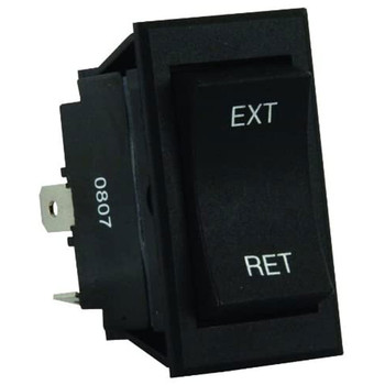 JR Products 13635 12V 5th Wheel & Tongue Jack Switch - Black