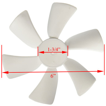 Ventline BVA0163-00 Replacement Fan Blade for Ventline Ventadome Trailer Roof Vents