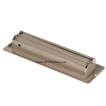 """AP Products 013-641 RV Heating/Cooling Floor Register - 2.25"""" x 10"""" - Brown"""