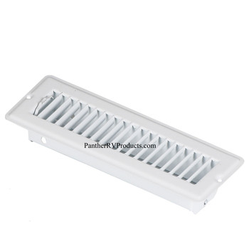 """AP Products 013-640 RV Heating/Cooling Floor Register - 2.25"""" x 10"""" - White"""