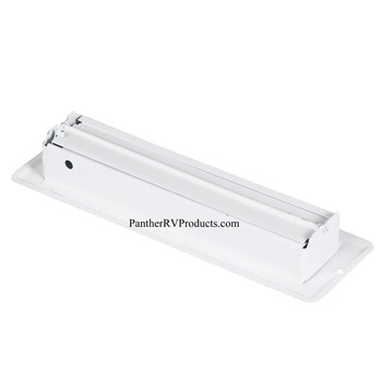 "AP Products 013-640 RV Heating/Cooling Floor Register - 2.25"" x 10"" - White"