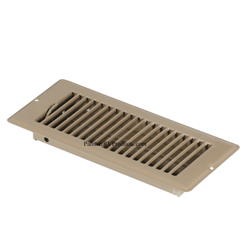 """AP Products 013-628 RV Heating/Cooling Floor Register - 4"""" x 10"""" - Brown"""