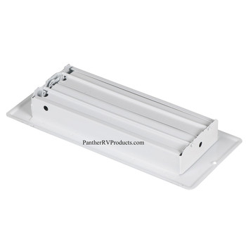 """AP Products 013-627 RV Heating/Cooling Floor Register - 4"""" x 10"""" - White"""