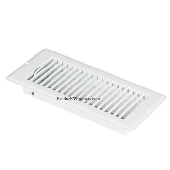 "AP Products 013-627 RV Heating/Cooling Floor Register - 4"" x 10"" - White"