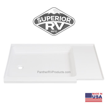 Superior RV 2742LP Shower Pan / Tray – Left Drain (C402 Compatible)