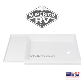 Superior RV 4227RP Shower Pan / Tray – Right Drain (C402 Compatible)