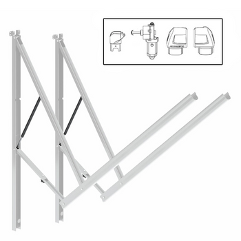 Dometic™ A&E 8962002.400BL RV 9200 Power Awning Arm Hardware Kit - Standard - White