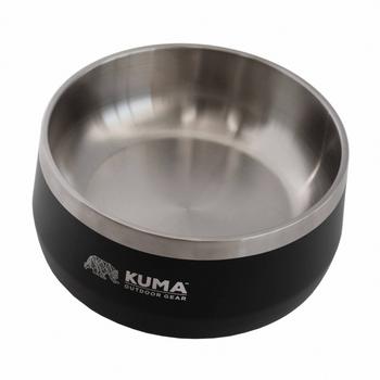Kuma Outdoors KO201 Camping S/S Heavy-Duty Dog Bowl - Black