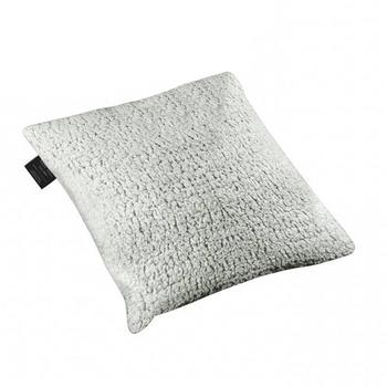 Kuma Outdoors 858-BP Square Plaid Fleece Camping Pillow - Black/Grey