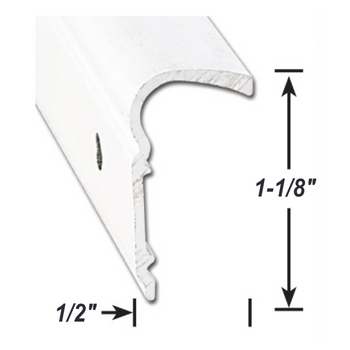AP Products 021-51101-8 RV Aluminum Bottom Filon Trim - White - 8 ft.