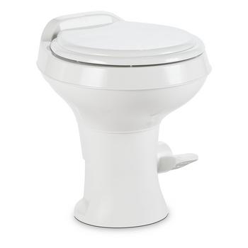 Dometic™ Sealand 300 RV Bathroom Toilet - Plastic - Foot Flush - White