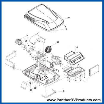 Dometic™ DuoTherm 650015 Penguin II Air Conditioner Parts Breakdown