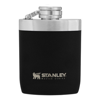 Stanley 10-02892-017 Camping Unbreakable Hip Flask - 8 oz - Black