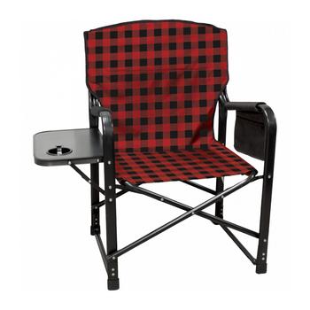 Kuma Outdoors 431-RB Bear Paws Camping Chair - Red/Black Plaid