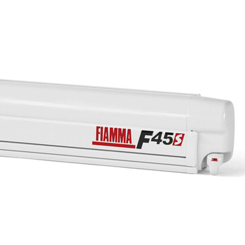 """Fiamma 06280G01R RV F45S Wall Mounted Patio Awning - 4.5m (14'8"""") - White Case - BLEMISHED"""