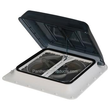 Fiamma 03623F01B Turbo-Vent Rooflight with Fan - Crystal