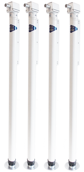 Rieco Titan 14031M4 Convertible Manual Crank Camper Jacks - 4 Pack - White