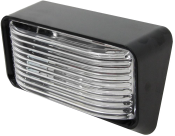 ECO Series 1P-P500-C Standard RV Exterior Porch / Utility Light - Black - Incandescent