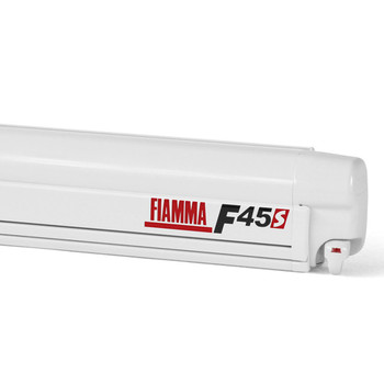 """Fiamma 06280A13R F45S Awning 3.0m (10'1"""") - Polar White Case - Royal Grey Fabric"""
