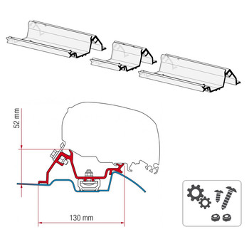 Fiamma® 98655-772 F80S Awning Mounting Bracket - Mercedes Sprinter w/ Roof Rail