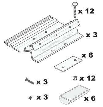 Fiamma® 98655-855 RV Awning Installation Adapter Bracket - Universal