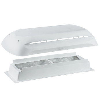Dometic™ 3311236.000 RV Refrigerator Vent Cover - Base and Cap - White