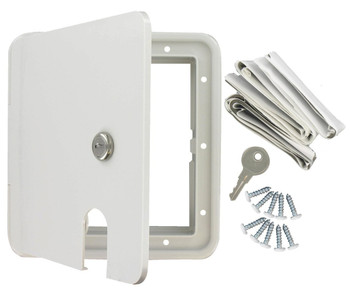 Valterra A10-2151VP Large Electric Square Cable Hatch - White