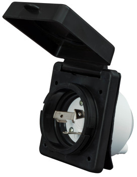 Valterra A10-30INBKVP RV Power Plug Inlet 30A / 125V - Black