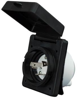 Valterra A10-30INBKVP RV Power Plug Inlet 30A / 125V - Black