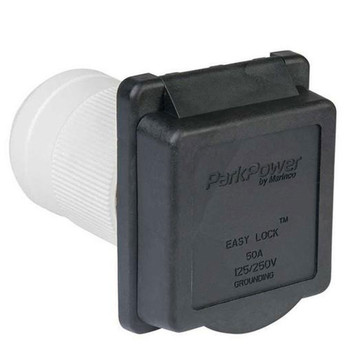 ParkPower 50ARVIB RV Power Plug Inlet 50A / 125V - Black