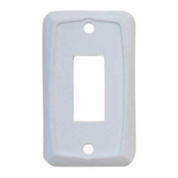 JR Products 12845 Face Plate for use with Switches - Single White