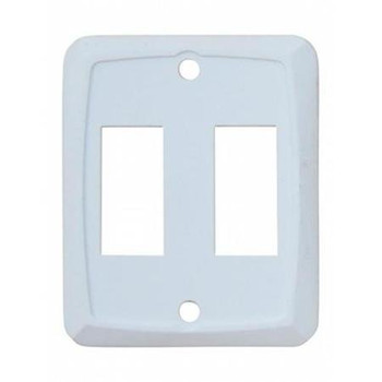 JR Products 12875 RV Switch Face Plate - Double White