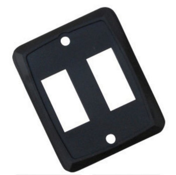 JR Products 12885 Face Plate for use with Switches - Double Black
