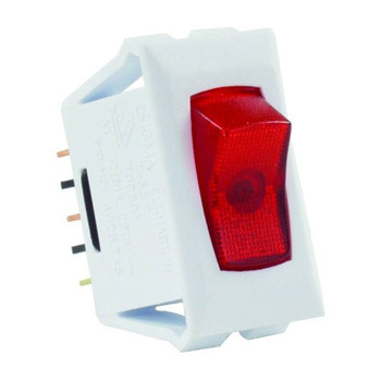 JR Products 12505 Interior Illuminated On/Off Switch - Red/White