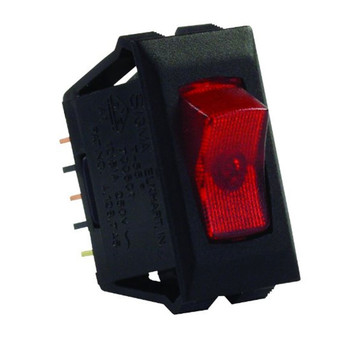 JR Products 12525 Interior Illuminated On/Off Switch - Red/Black