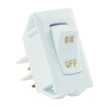 JR Products 12585 Interior Labeled On/Off Switch - White