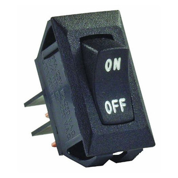 JR Products 12595 Interior Labeled On/Off Switch - Black