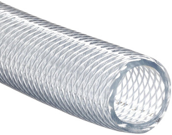 "Clear Braided Vinyl Tubing 3/8"" - Sold by the foot"