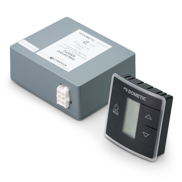 Dometic 3316234.716  Single Zone CT T-Stat w/ Control Board Kit (Cool/Furnace/Heat Pump) - Black