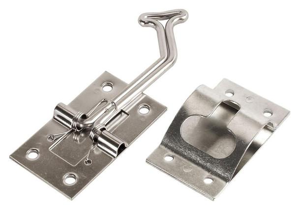 RV Designer E275 Entry Door Holder - Stainless Steel - 45 Degree