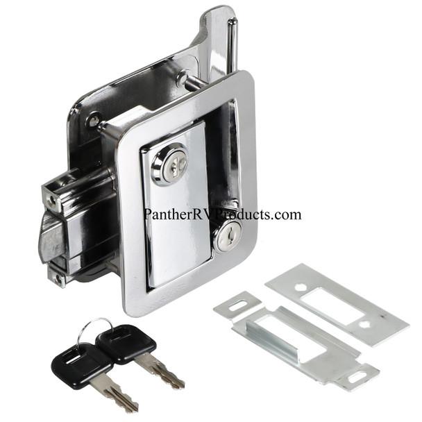 Wesco 43610-00-SP RV Paddle Entry Door Lock Latch with Deadbolt