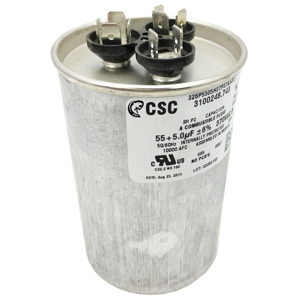 Dometic™ (Duo-Therm) 3313107.036 Air Conditioner Motor Capacitor 55/5 MFD