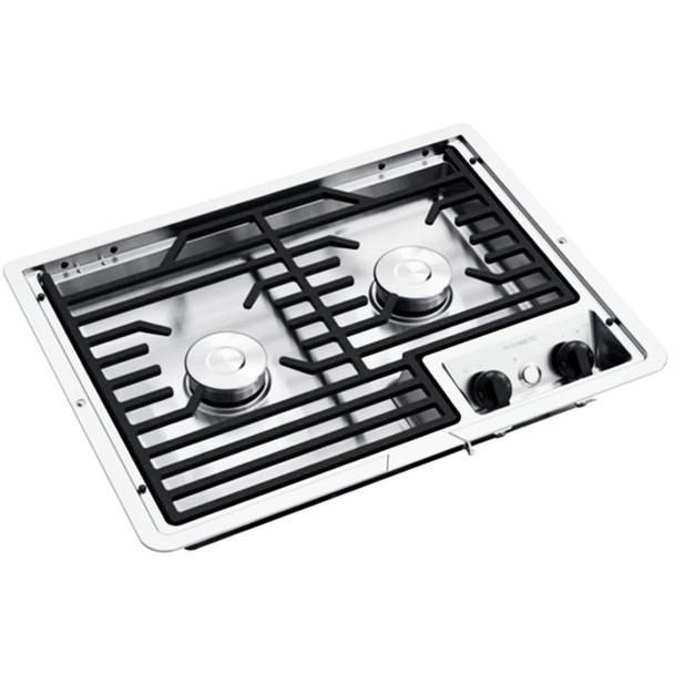Dometic™ D21-SEC (50216) RV 2-Burner Propane Cooktop - Stainless Steel