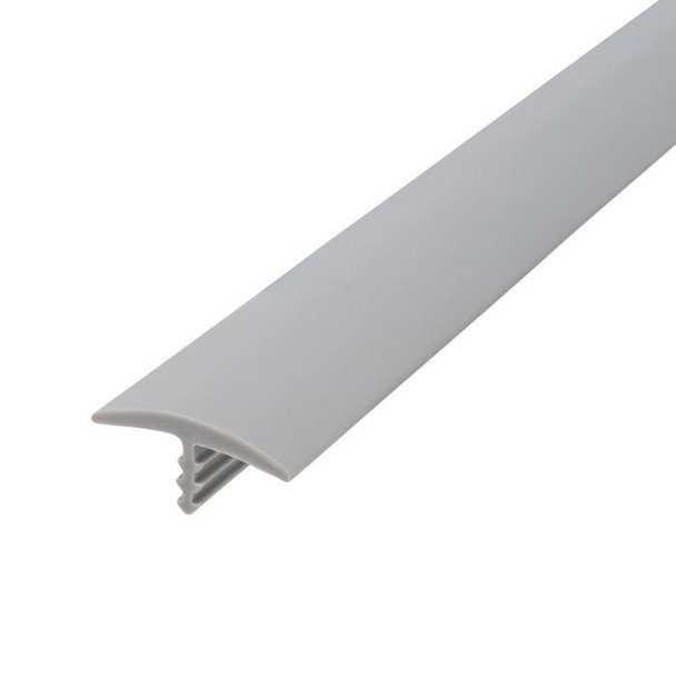 "105-679-125-25 Plywood Edge Plastic Trim T Molding - 3/4"" - Grey - 25 Feet"