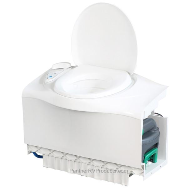 Thetford C403L RV Cassette Toilet - Electric Flush Direct to Fresh Water Tank - LH Cassette