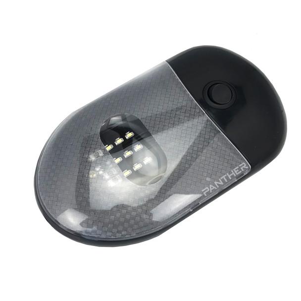Superior RV L09-0131 RV LED Single Dome Ceiling Light  - Black