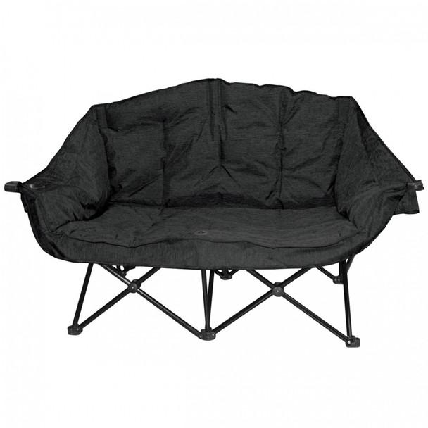 Kuma Outdoors 490-CB Bear Buddy Cushioned Camping Chair - Black
