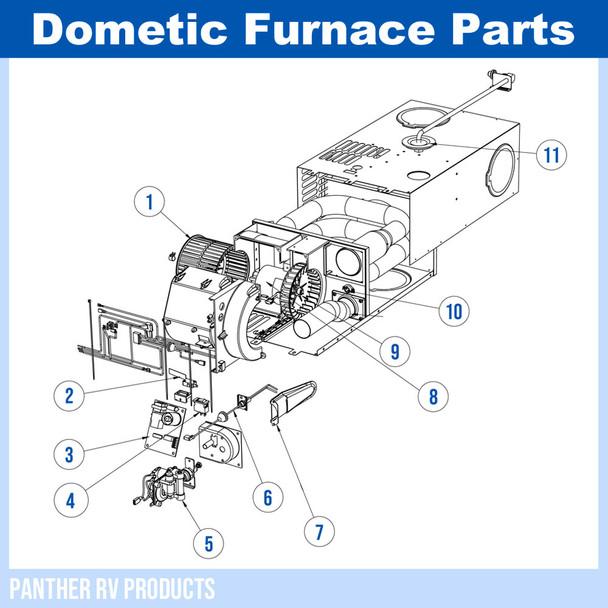 Dometic™ (Atwood) DFSD12 RV Mojave Propane Heater / Furnace - 12K Parts Breakdown