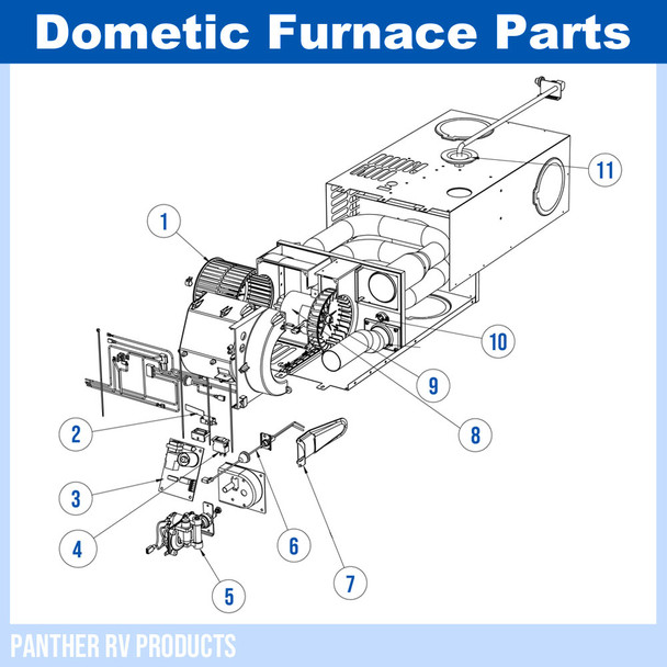 Dometic™ (Atwood) DFSD16 RV Mojave Propane Heater / Furnace - 16K Parts Breakdown
